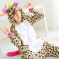 Adult Flannel Giraffe Pajamas Onesies Cosplay Costume Cartoon Animal Unisex Sleepwears Jumpsuits Christmas Party Dressing Up