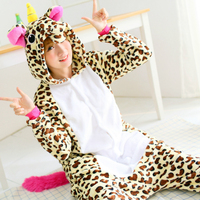 Adult Flannel Giraffe Pajamas Onesies Cosplay Costume Cartoon Animal Unisex Sleepwears Jumpsuits Christmas Party Dressing Up
