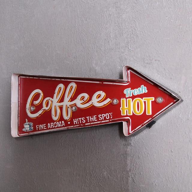Vintage Home Decor LED Neon sign Light Box Beer Cerveja Coffee Bar ...