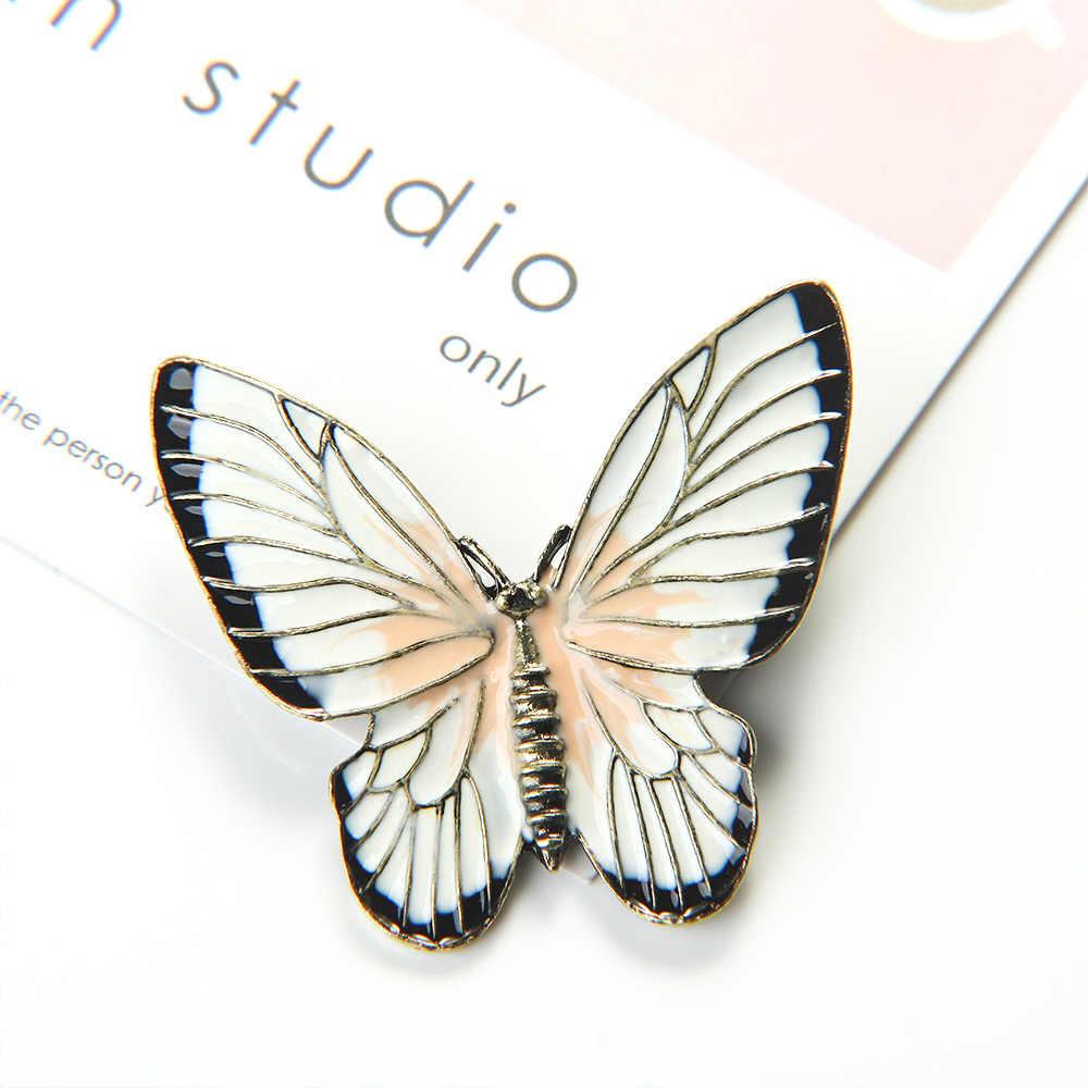 Paduan Butterfly Serangga Logam Bros Kerah Pin Syal Gesper Hadiah Wanita Aksesoris Dropshipping