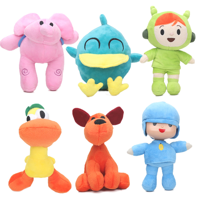 12-26cm Pocoyo Toys Pocoyo Elly Pato Loula Plush Doll Pocoyo Dog Duck Elephant Soft Stufffed Animal Dolls Toy Party Supplies