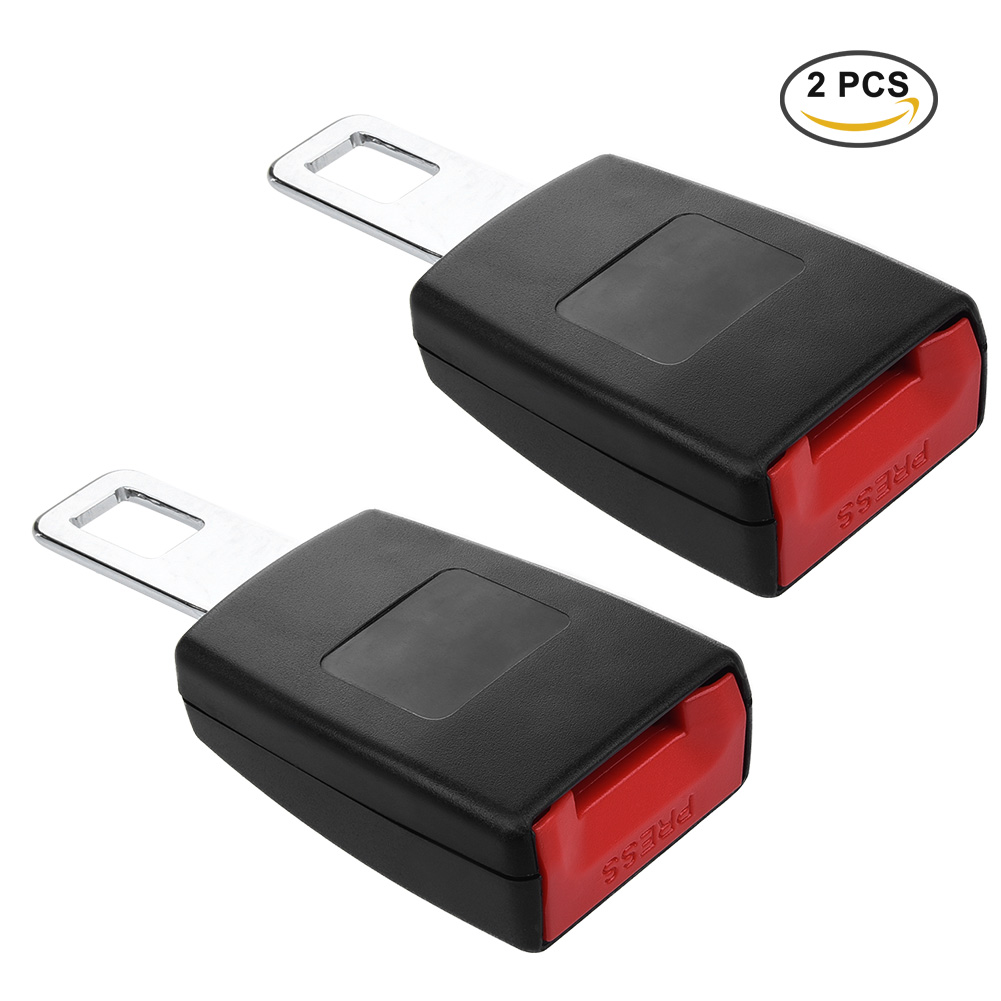 Cargool Universal 2 piezas Auto Car Seat Belt extensor Socket Metal del cinturón lengua hebillas Clip Rigid coche cinturón de seguridad lengua