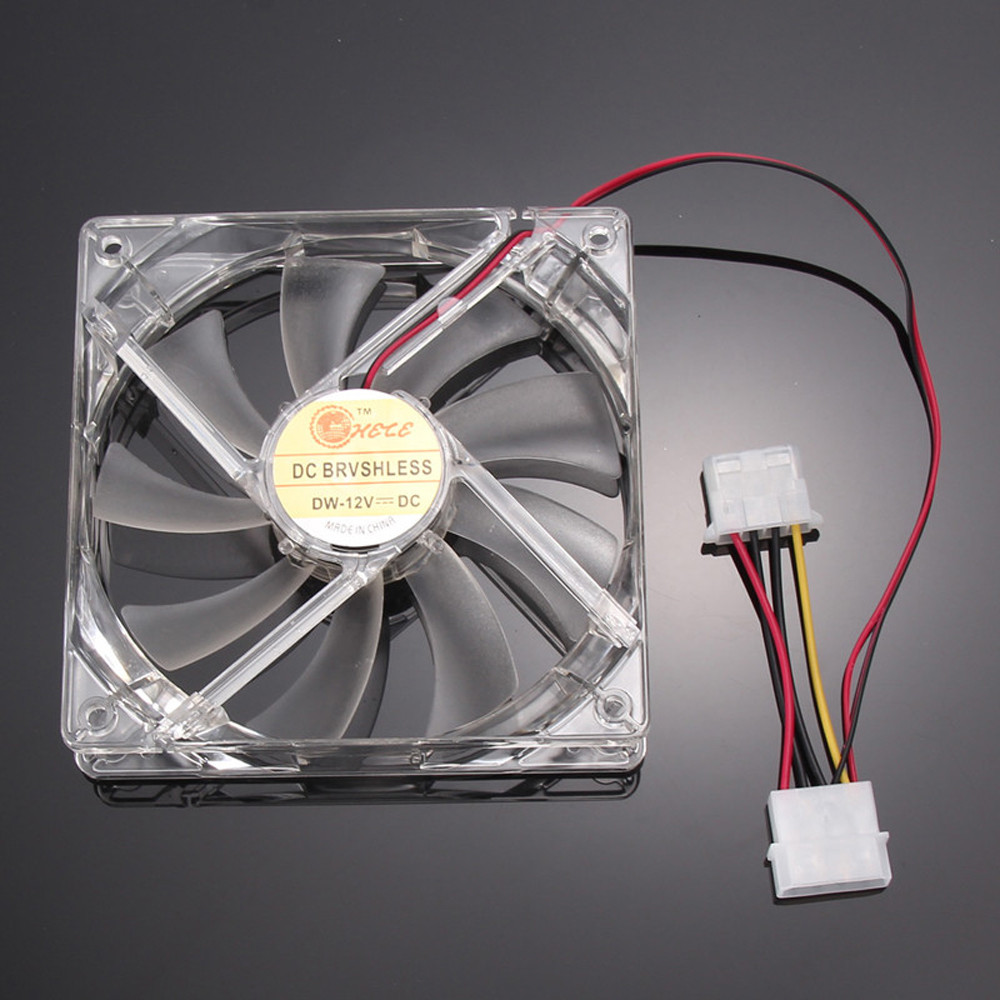 Quiet 12cm pc cpu cooler <font><b>120</b></font> <font><b>mm</b></font> <font><b>fan</b></font> 12V Computer/PC/CPU Silent Cooling <font><b>Fan</b></font> For Radiator Mod for video card thermal pad wholesale image