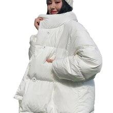 Winter Jacket Parka Down-Coat Stand-Collar Womens Short Loose Oversized Female Korean-Style