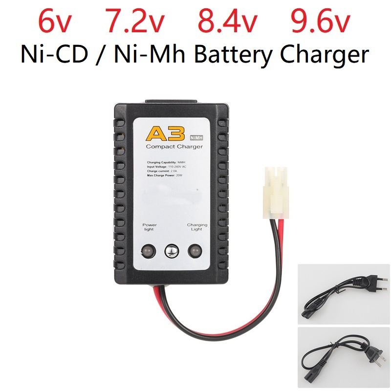 Professional edition A3 Charger 6v 7.2v 8.4v 9.6v Battery Charger for NiCd NiMH battery with Tamiya Plug Kep-2p Plug For RC toysProfessional edition A3 Charger 6v 7.2v 8.4v 9.6v Battery Charger for NiCd NiMH battery with Tamiya Plug Kep-2p Plug For RC toys