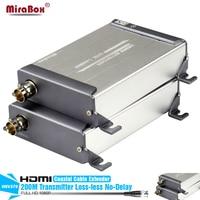 HSV379 HDMI Extender 1080P 200m LossLESS No Delay HDMI Over Single RG59 RG 6U Coax Cable