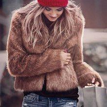 457446ccf Luxury Fluffy Rabbit Fur Coat Women Winter Collarless Long Sleeve V-neck Fur  Jackets Overcoat Wedding White Short Coat 6Q0204