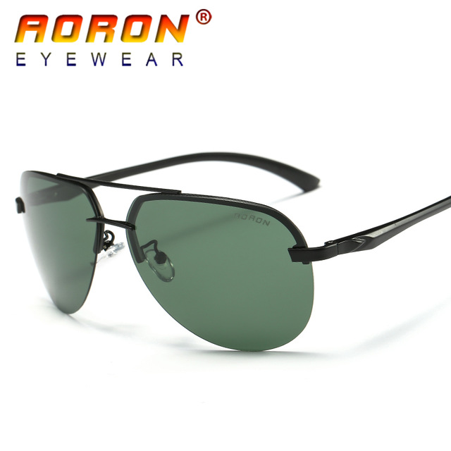222cab7a82 2017 Aoron New Men Brand Designer Driving Polarized Sunglasses Goggles  Reduce Glare Color Sun Glasses Mirror A143 Free Shipping-in Sunglasses from  Apparel ...