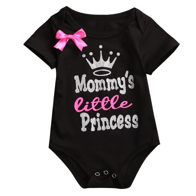 be0609328 Kids Baby Girls Bowknot Rompers Black White Infant Baby Girl Short ...