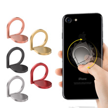 Holder Finger Ring Metal Mobile Phone Stand For iPhone 5 5S 6 6p 9 X 8 7 plus Magnetic ring Round Car Mount