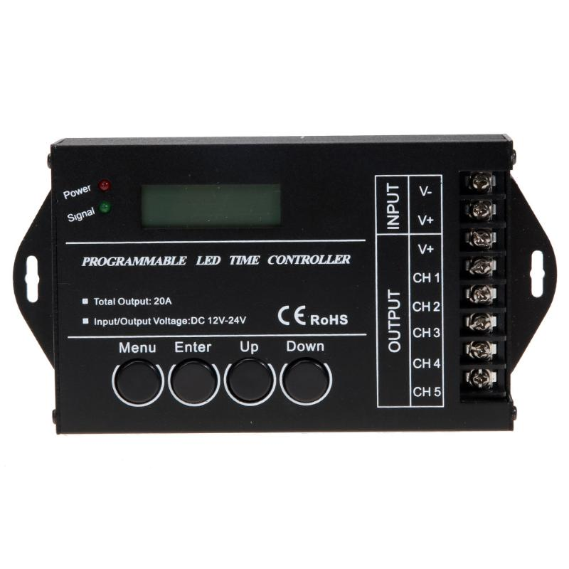 DC12-24V TC421 WiFi Time Programmable LED Controller Time Controller for LED Strips