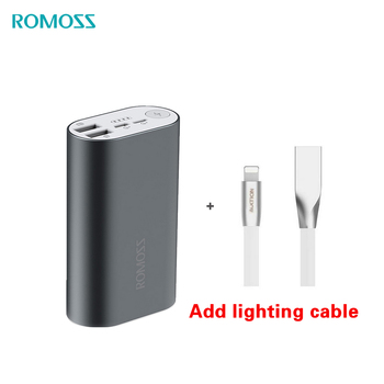 ROMOSS Power Bank 10000mAh ACE10 External Battery Pack Aluminum Alloy Power Bank A10 Charger for iphoneX Huawei Xiaomi iosx