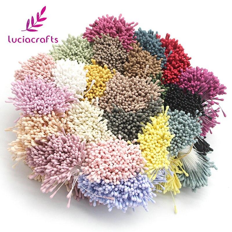 Lucia ремесла 1 мм большой выбор Искусственные цветы тычинки ручной работы для Свадебная вечеринка украшения дома DIY интимные аксессуары 11020117