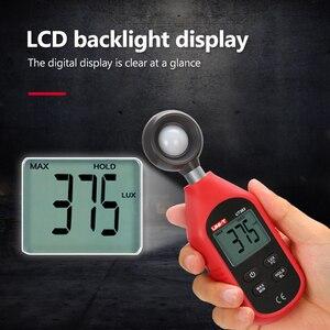 Image 2 - UNI T UT383 Misuratore di Luce 200,000 LUX Digital Luxmetro Luminanza Lux Fc di Prova Max Min Illuminometers Fotometro