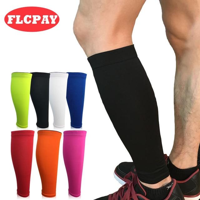 1 יחידות דחיסת בסיס שומר שין רגל מחממי רגליים נשים שרוולי רכיבה על אופניים גברים ריצת כדורגל כדורגל ספורט עגל תמיכת מגן