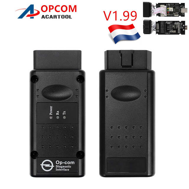 2019 Opcom V1 99/V1 7/V1 78 op com For Opel obd 2 Code reader OP-COM with  PIC18F458 CAN BUS Interface OBD2 diagostic tool