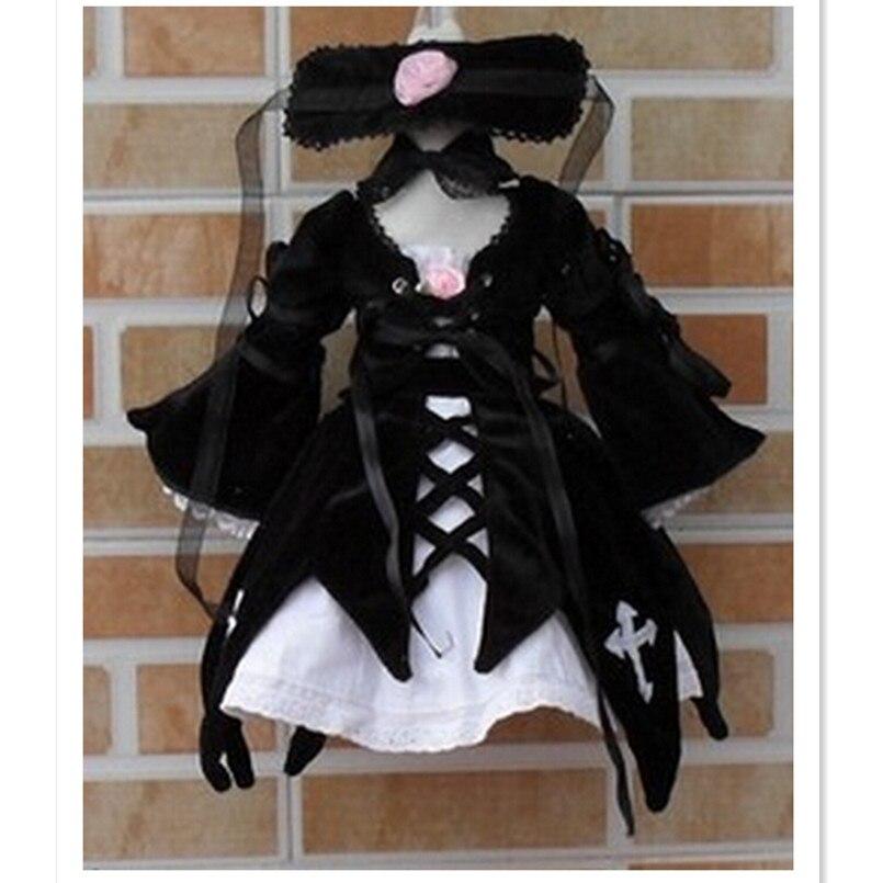 7pcs/set BJD Doll Accessories For Suigintou BJD Doll, 1/4 1/6 Doll Clothes Sizes For Choice