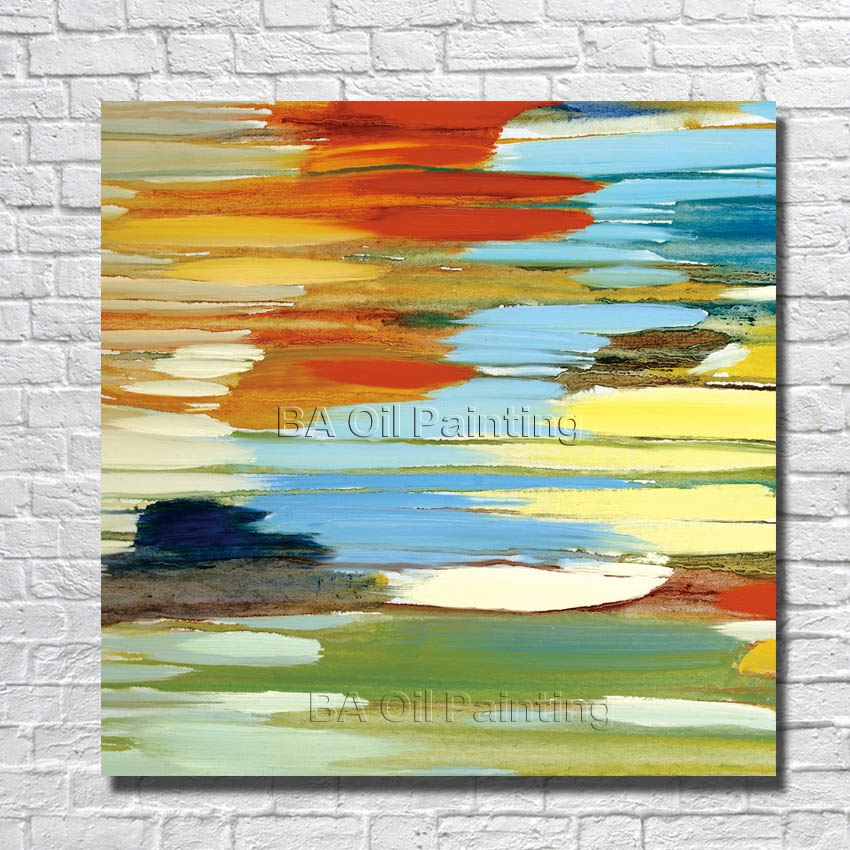 ᗕHandpainted New Design Modern Abstract Wall Pictures on Canvas Oil ...