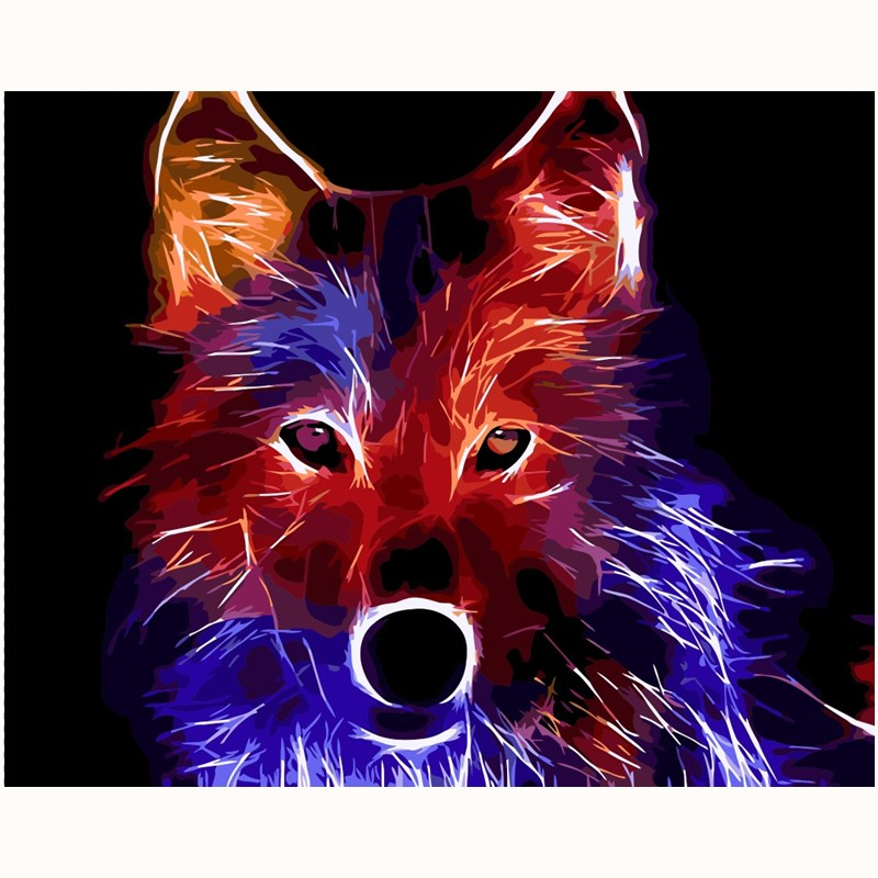 Fox Animal Art DIY Painting Numbers picture By Number Digital Pictures Coloring by hand Unique Gift room decor Home Paintings thumbnail