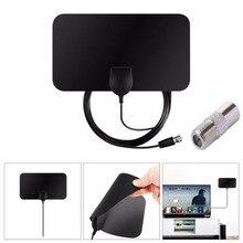 Indoor HD Signal Amplifier Digital TV Antenna Conversion head HDTV 50 Miles Range Black for Flat Design
