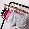 Mulheres de Rua Moda de Verão Shorts Cintura Elástica Calças Curtas Das Mulheres de Todos Os Jogo Solto Sólidos Algodão Macio Casual Curto Femme