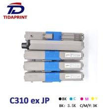 TIDAPRINT Remanufactured toner Cartridges C310 for OkiData C330/C310/C510/C530/C331/C531 chip for oki data c310 nmfp for okidata c511 dnmfp for oki c510 dnmfp for oki data c331 dnmfp color drum unit chip free shipping