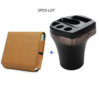 JINXINGCHENG Flip Wallet Leather Case and Charger for Iqos 3.0 Pouch Bag Holder Box Holder Case with Car Charging for Iqos3