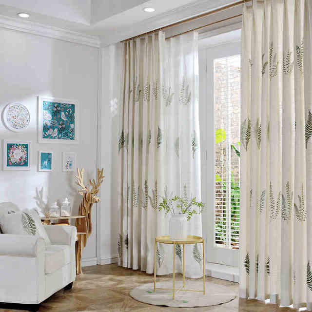 Linen Blinds Cotton Sheer Curtains And Tulle Window Bedroom Curtains  Blackout For Living Room Cheap Cortinas
