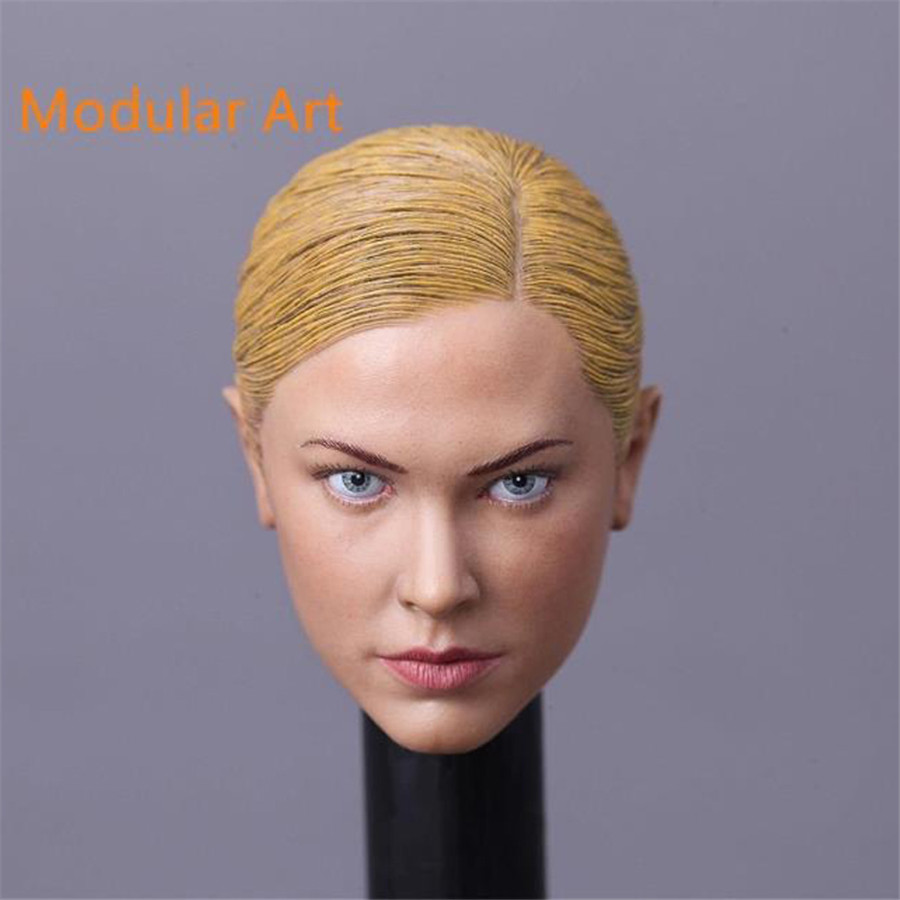 Mnotht 1/6 Female Solider Terminator T-X Modular Art Christina Carving Head For 12in Female Figures l25 mnotht 1 6 female solider head model batman catwoman head carved cgt for 12in figures l25
