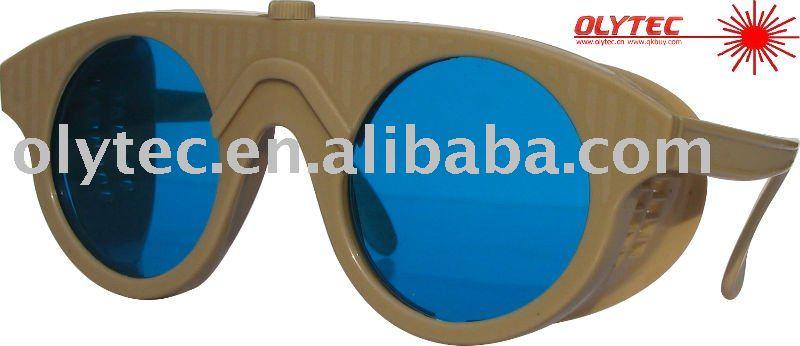 OLY-LSG-14 600-1100nm laser safety glasses ,CE, O.D 4+ Good V.L.T % oly lsg 14 600 1100nm laser safety glasses ce o d 4 good v l t