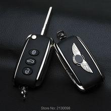 Flip Folding Fernschlüsselshell Für Bentley Autoschlüssel Shell ersatz Fob Tastaturabdeckung Shell Ersetzen Mit Logo Freies verschiffen