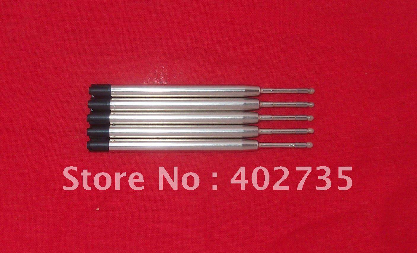 100 шт. penloverefill новые черные металлические гелевые чернила заправка 0,5 мм, PK стиль, pK jotter ручка заправка