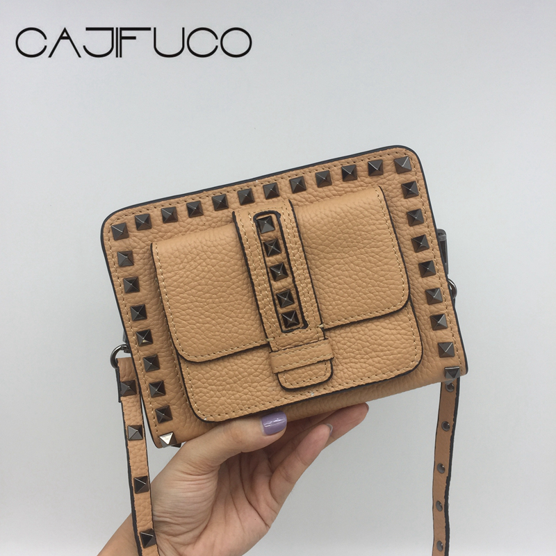 CAJIFUCO Spike Cross Body Bags Gun Stud Zipper Shoulder Bag With Nails Strap Women Metal Rivet Flap Pocket Bag Bolsos MujeCAJIFUCO Spike Cross Body Bags Gun Stud Zipper Shoulder Bag With Nails Strap Women Metal Rivet Flap Pocket Bag Bolsos Muje