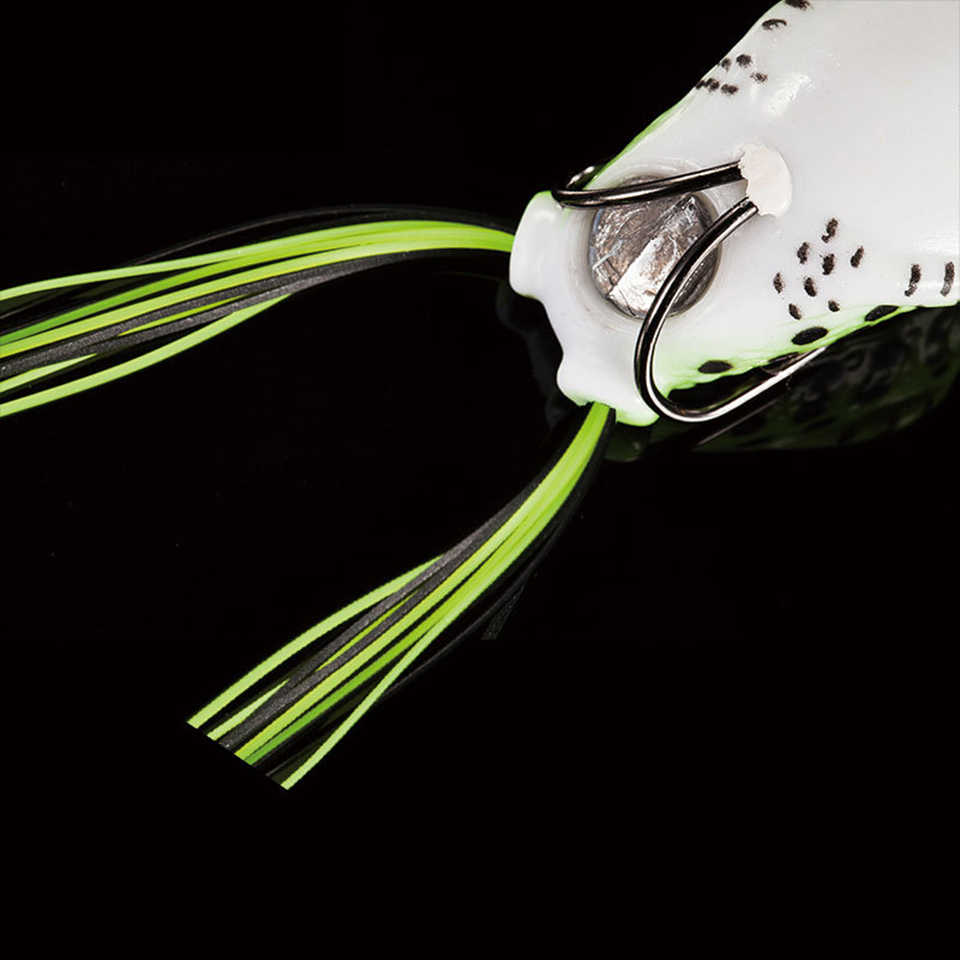 1PCS 5.5 centimetri 10g Esca Molle Pesce Popper Esche Swimbaits Esche In Plastica Pasca attrezzatura da pesca rane Manovella Forte artificiale Esca Molle