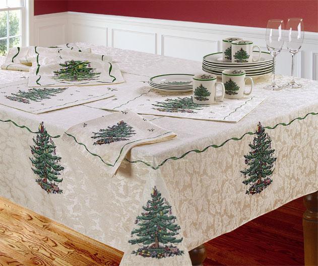 Beautiful Wholesale Christmas Embroidery Table Runner Satin Tablecloth Xmas Table  Flag Towel Cloth Covers SPODE Brand Table Linens Navidad