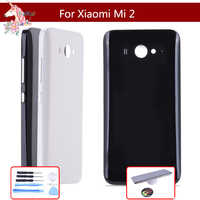Original pour Xiao mi mi 2 M2 mi 2 couvercle arrière de la batterie boîtier de la porte arrière remplacer pour M2 mi 2 couvercle de la batterie avec bouton latéral