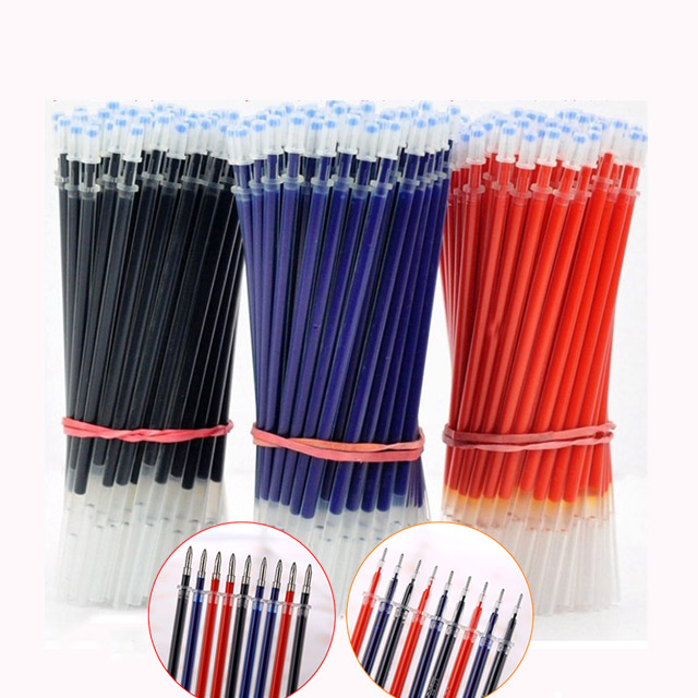 20Pcs/lot Classic Bullet <font><b>Needle</b></font> Tip Blue Red Black Ink <font><b>Gel</b></font> <font><b>Pen</b></font> <font><b>Refills</b></font> Replaceable <font><b>Refill</b></font> for Students Office School Supplies image