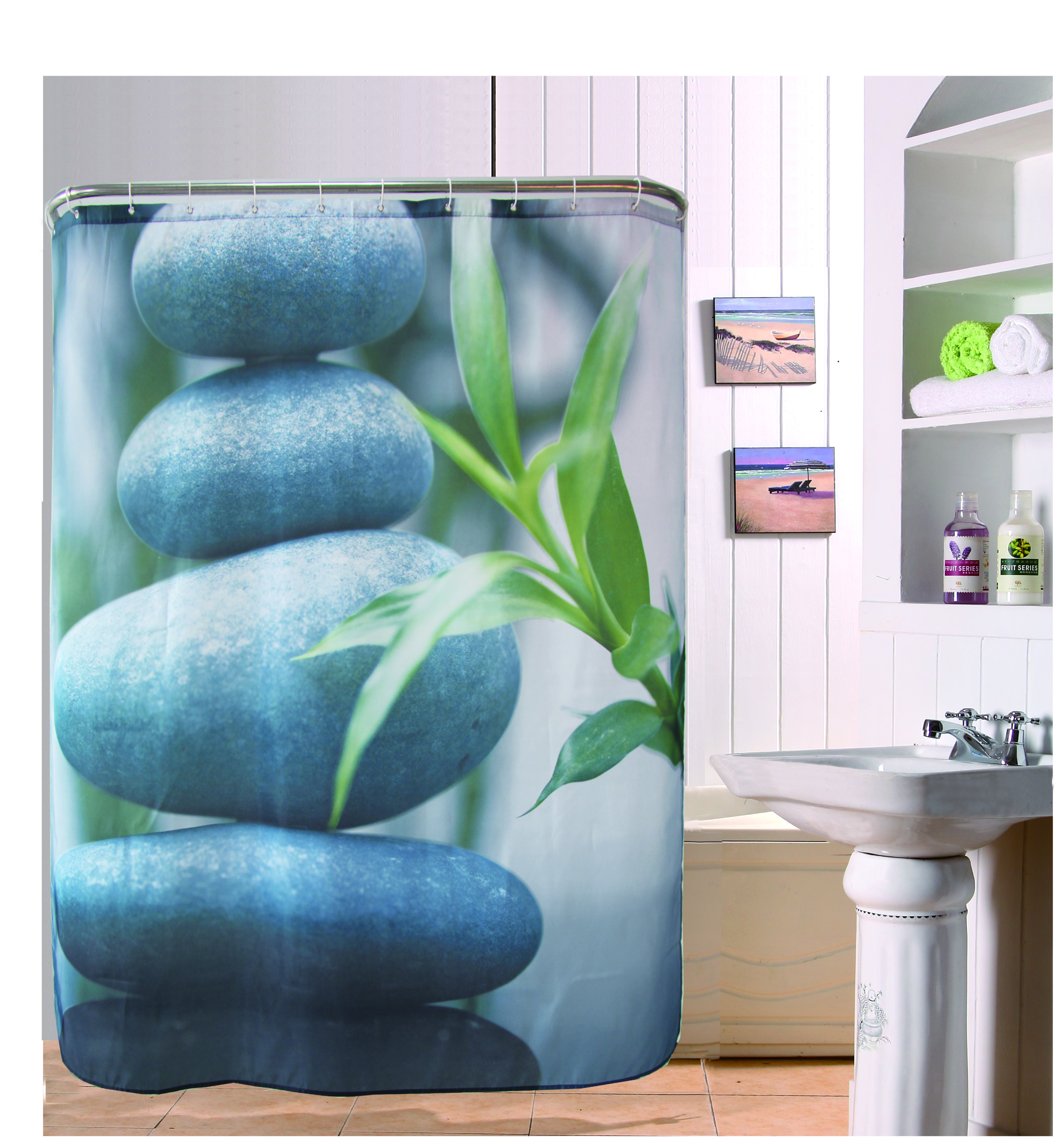 180cm 180cm Modern Shower kids Curtain Bamboo Leaf  amp amp  Stone Design Bathroom drapes Waterproof. Online Get Cheap Bathroom Drapes  Aliexpress com   Alibaba Group