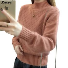 2018 sweater Spring pullover women tops Slim jumper casual pull femme Xnxee