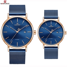 NAVIFORCE Top Brand Luxury Men Quartz Watches Women Steel Waterproof Casual Date Couple Clock Male Wrist Watch Relogio Masculino men watches top brand naviforce fashion sport watch analog waterproof quartz hour date clock male wrist watch relogio masculino