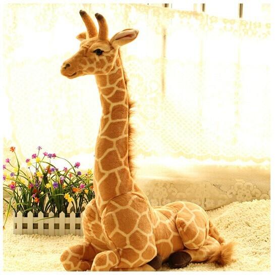 прекрасна седалка жираф играчка плюш симулация жираф кукла рожден ден подарък около 53x40cm 0491