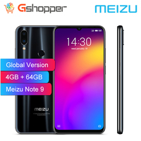 Global Verrion Meizu Note 9 Phone 48.0MP Camera 4GB RAM 64GB ROM 4G LTE Snapdragon 675 Octa Core 6.2 2244x1080p FHD Fingerprint