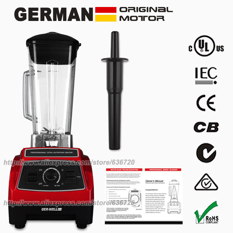 100 GERMAN Original BPA FREE Professional Kitchen System Pulse G2001 3HP Motor 2200W 64 Ounce food