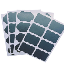 400pcs/pack Black Blank Sealing Sticker Cloud Flower Pressure-Sensitive Writable Reusable Waterproof box label