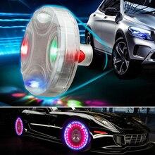 цена на Car Auto Wheel Hub Tire Solar Color LED Decorative Light Solar Energy Flash