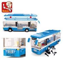 Klocki autobus miejski klocki 235 + szt. Chłopcy i dziewczęta Enlighten bloki edukacyjne DIY cegły zabawki dla dzieci