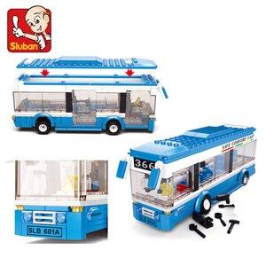 Building Blocks City Bus Building Blocks 235+pcs Boys&Girls Enlighten Blocks Educational DIY Bricks Toy For Children