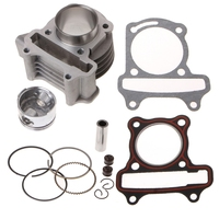 Free shipping 47mm Big Bore Cylinder Piston Kit Rings For Scooter Moped GY6 50 60 80 139QMB