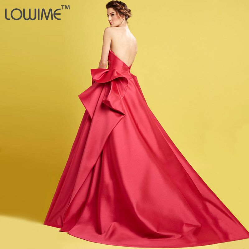 Latest Design Robe de Soiree Long 2015 Red Ball Gown Evening Dresses ...