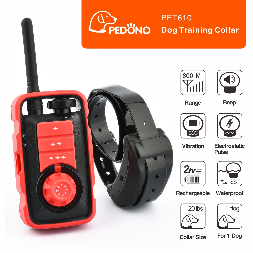 800M Rechargeable Dog Electric Collar Anti Bark Waterproof